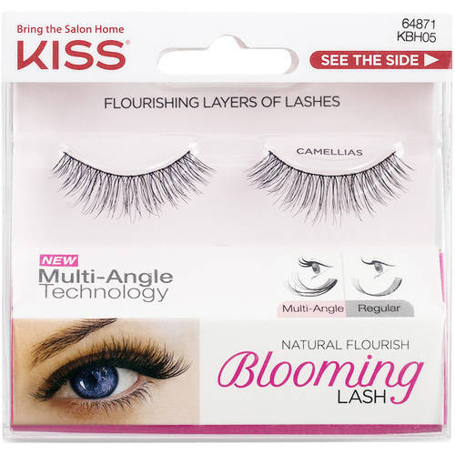 KISS Natural Flourish Blooming Lash False Eyelashes, Camellias, 1 pr