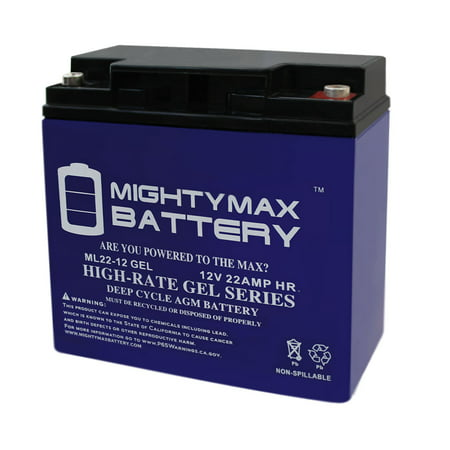 12V 22AH GEL Battery for Kaishan K600W Electric Scooter - image 1 of 6