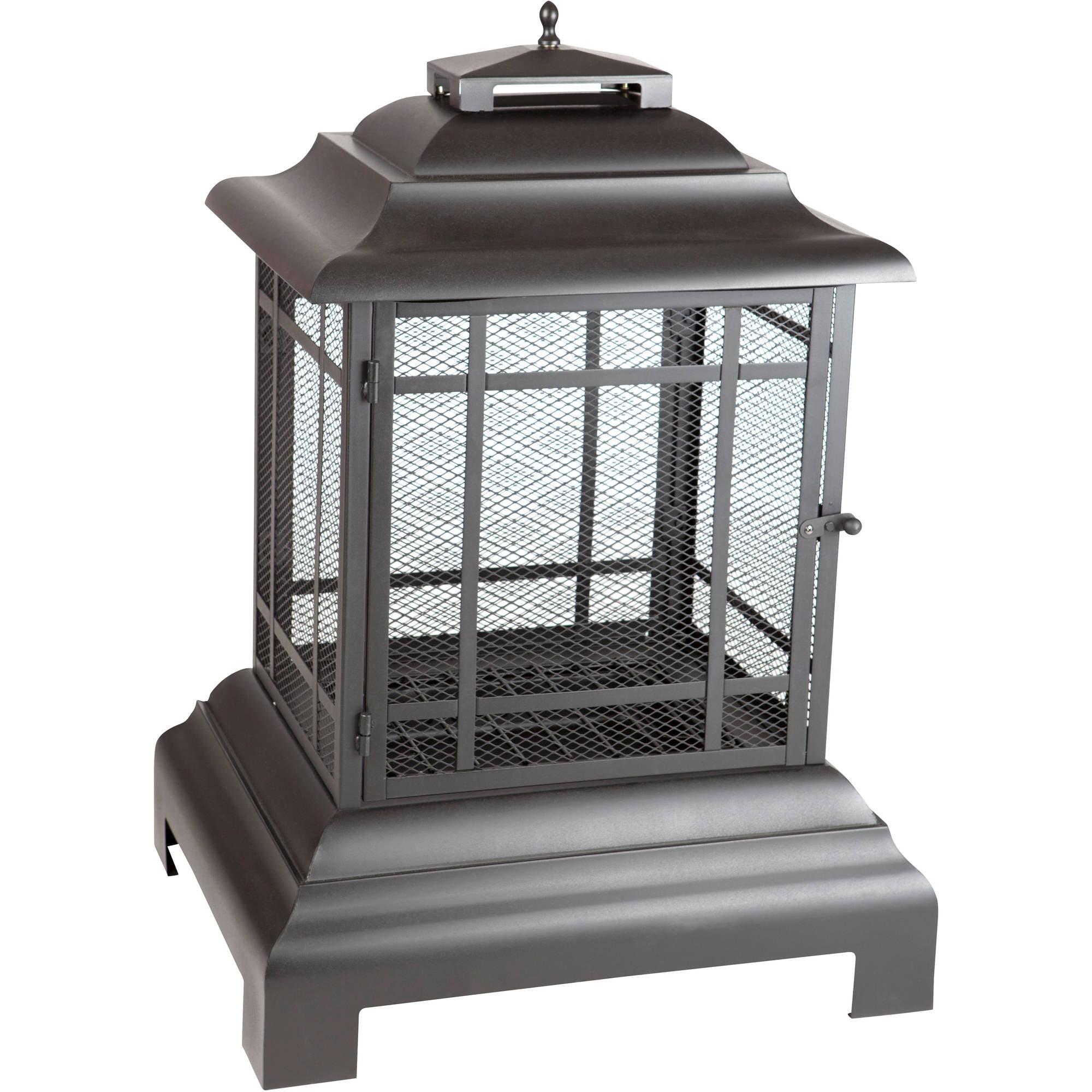 Fire Sense Rectangle Pagoda Patio Fireplace - Walmart.com