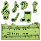 "Inkadinkado Cling Mini Stamp 2.25""X2.25"" -Music Notes"