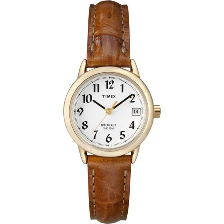 Women's Easy Reader T2J761 Brown Leather Analog Quartz Dress Watch
