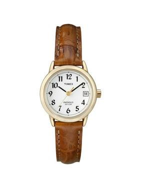 Women's Easy Reader T2J761 Brown Leather Analog Quartz Dress Watch