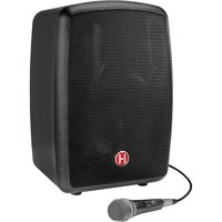 Harbinger RoadTrip 25 8in. Battery-Powered Portable Speaker with Bluetooth and Microphone (Black)