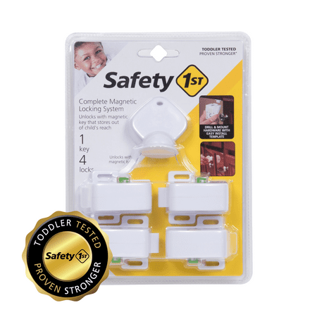 Safety 1st Complete Magnetic Locking System (4 locks, 1 key), White