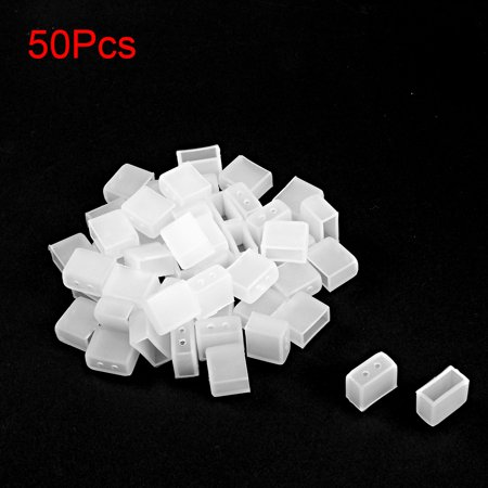 50pcs Silicone Plug Fit 3528 8mm LED Tube Strip Light End Cap Cover w 2 Holes - image 2 of 3
