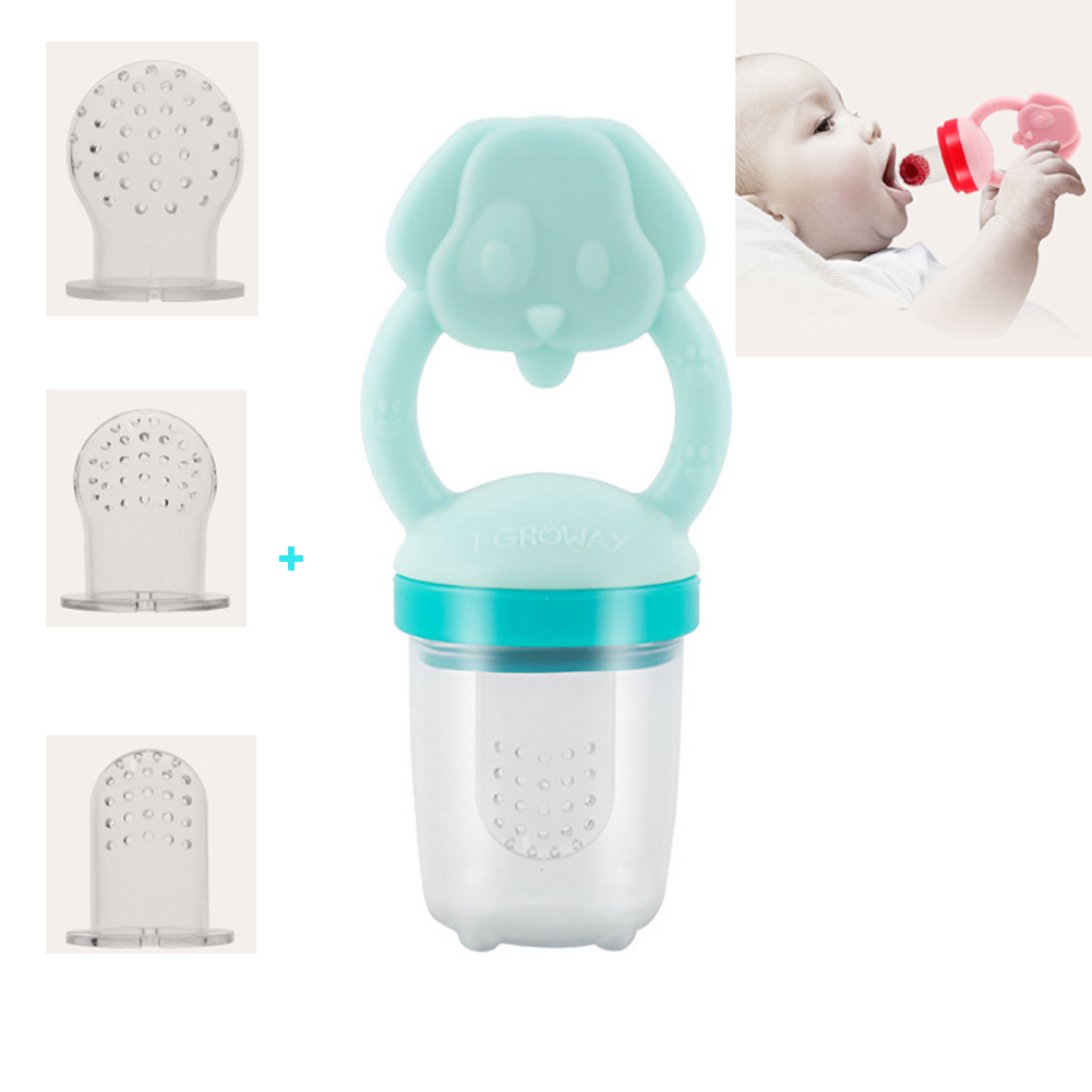 Baby Food Feeder ,Baby Fruit Feeder Pacifier, Infant Fruit Teething Toy, Silicone Pouches ,Training Finger Toothbrush