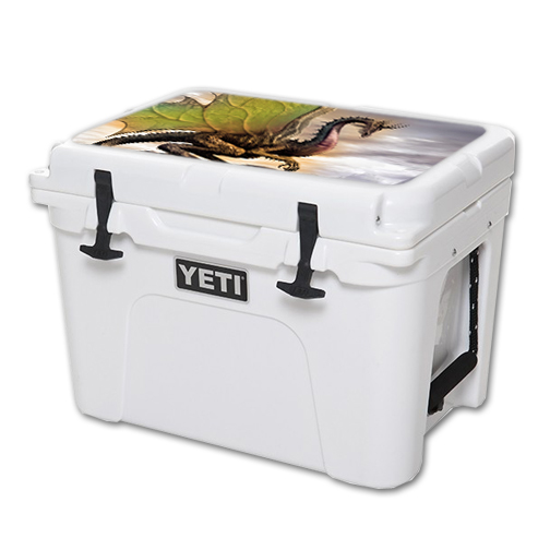 MightySkins Protective Vinyl Skin Decal for YETI Tundra 35 qt Cooler Lid wrap cover sticker skins Dragon World