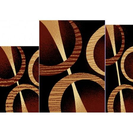 Modern Contemporary Ebony Geometric Floor Rug Area Rug Designer rug Carpet Free Ship (Ebony Wood Floors)