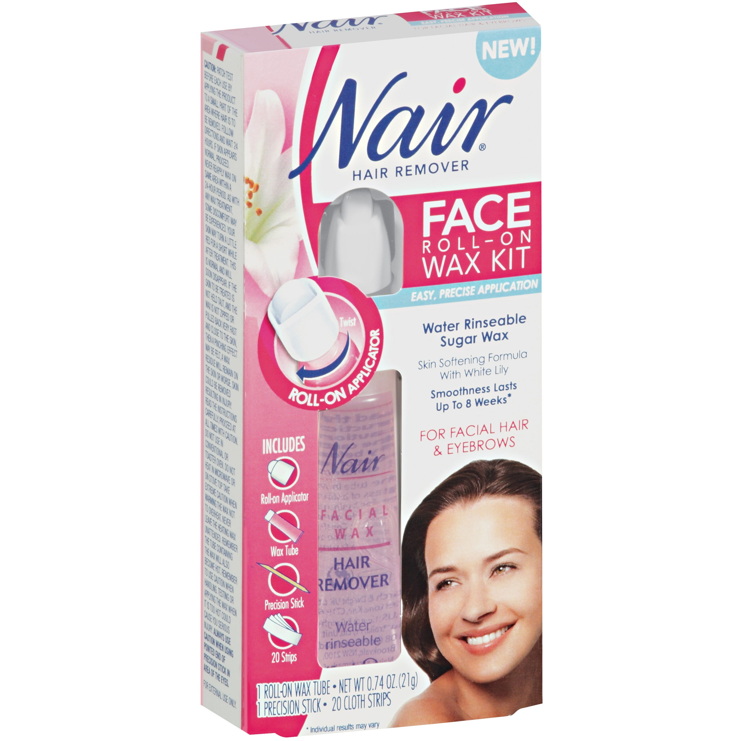 Nair® Face Hair Remover Roll-On Wax Kit