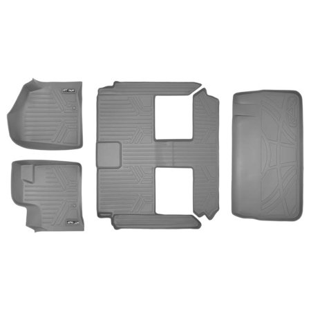 Maxliner 2008-2019 Dodge Caravan 2008-2016 Chrysler Town & Country Floor Mats 3 Row Set Maxtray Cargo Liner Behind 3rd Row Grey A2046/B2046/D2046