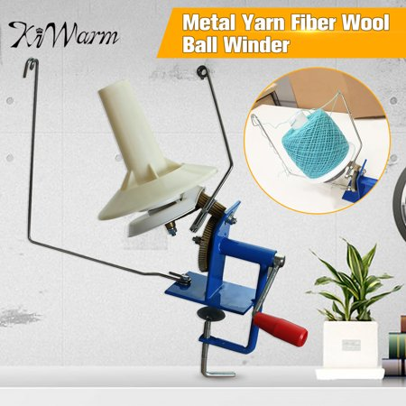 10oz Capacity Hand Operated Double Accelerated Gear/One Gear Metal Yarn Fiber Wool Ball Winder Heavy Duty Needlecraft Fast Speed for Swift Yarn Fiber String Ball (Yarn Ball Winders)