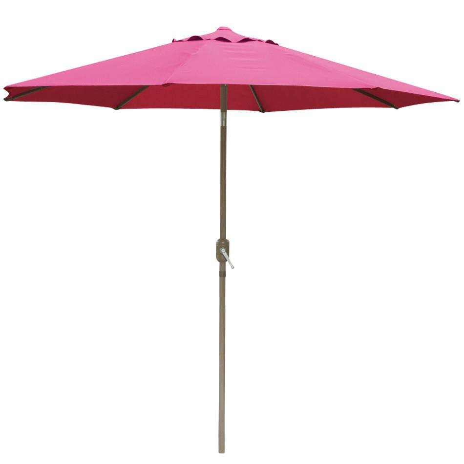 Yaheetech 8u0027 Patio Umbrella Burgundy Aluminum Patio Market Pool Beach Outdoor  Umbrella Tilt W/