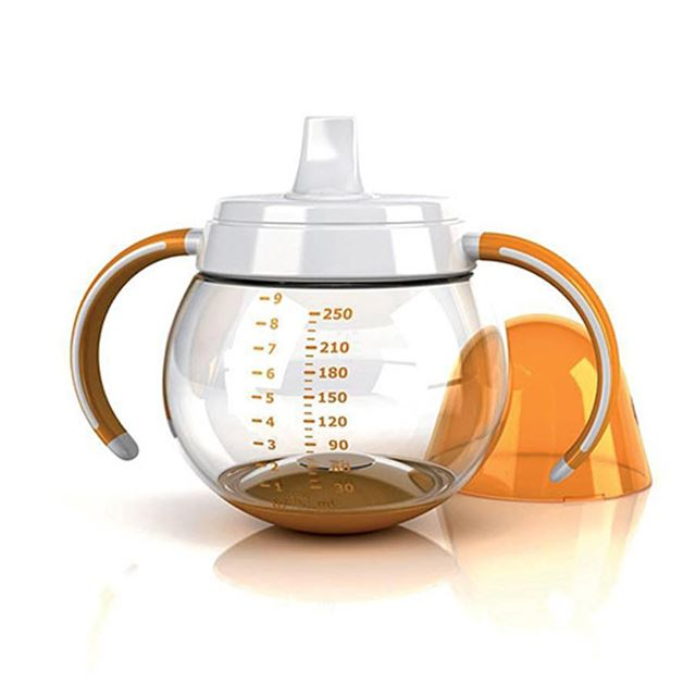 Lansinoh mOmma Spill Proof Cup with Dual Handles, Orange