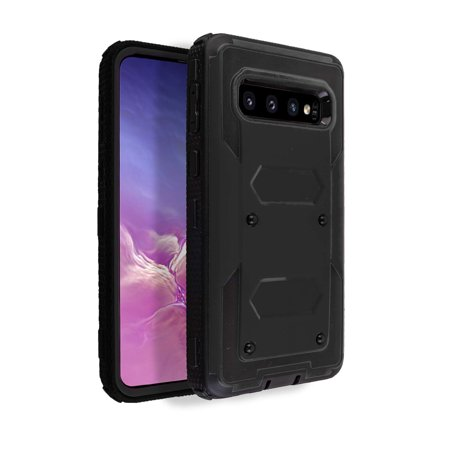 Windrew Galaxy S10 Plus case,Heavy-Duty Shock-Resistant Rugged Hybrid case with Rotating Belt Clip and Bracket for Galaxy S10 Plus 6.4 inch case 2019