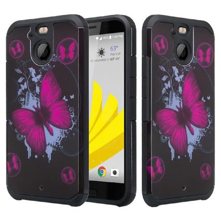 Cover 10 Bolt - HTC Bolt Case, HTC 10 Evo Case, SOGA [Astro Guard Series] Hybrid Armor Cover Protector Case for HTC Bolt / 10 Evo - Big Butterfly