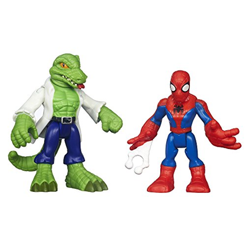 Playskool Heroes Marvel Super Hero Adventures Spider-Man and Lizard Figures by