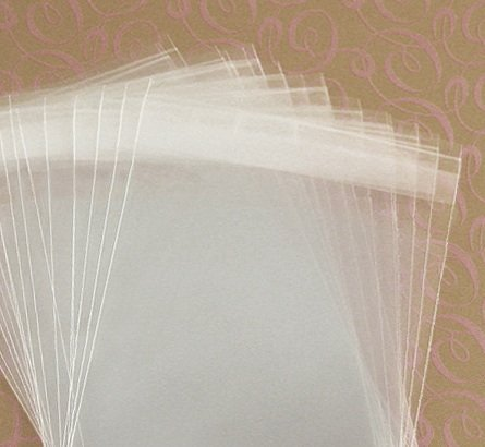 MyCraftSupplies 8 1/4 x 10 1/8 Inch Resealable Clear Cello Bags - Tape on Lip (Flap) Set of 100
