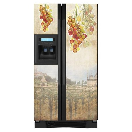 Appliance Art 10073 Tuscan Grapes Fridge Front
