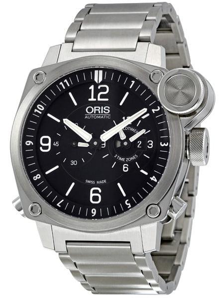 Oris BC4 Flight Timer Automatic Black Dial Men's Watch 690-7615-4164MB