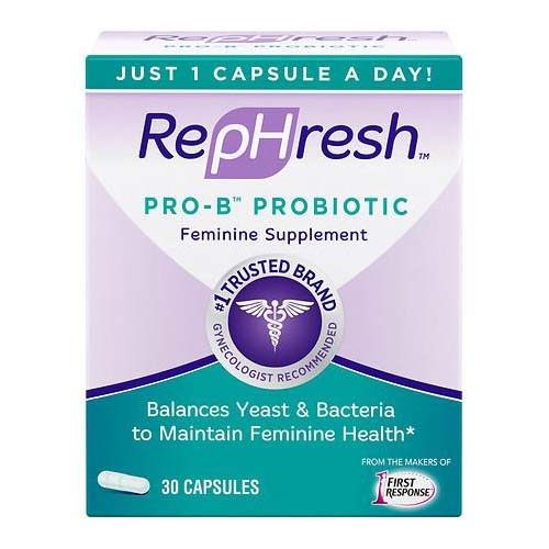 Rephresh Pro-B Probiotic Feminine Supplement Capsules, 30 Ea, 2 Pack