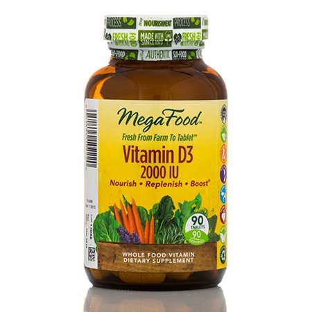 - Vitamin D3 2000 IU - 90 Tablets by MegaFood