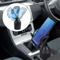 Cup Phone Holder for Car, Universal Adjustable Car Cup Holder Phone Mount Adjustable Automobile Smart Phone Holder GPS Cradle with Quick Release Button Fit for Galaxy iPhone 11 Pro XR 8P