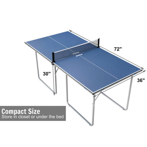 JOOLA Midsize Compact Table Tennis Table Great For Small Spaces And  Apartments U2013 Multi Use Free Standing Table   Compact Storage Fits In Most  Closets   Net ...