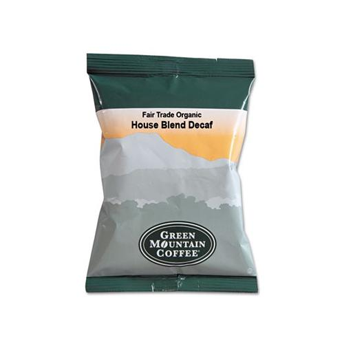 Green Mountain Coffee Roasters Fair Trade Organic House Blend Decaf Coffee Fraction Packs GMT5493