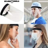 Splash Face Shield with Adjustable Velcro Strap, Transparent Full Face Safety Visor