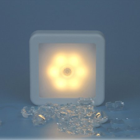 Dreamgear Wireless Infrared Sensor (6 LED Wireless PIR Auto Motion Sensor Infrared Night Light Cabinet Stair Lamp)
