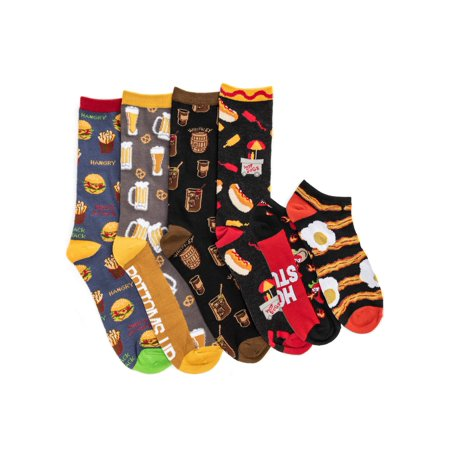 FATHERS DAY! Foodie 6 Pack Sock Giftbox (Off Road Cycling Sock)