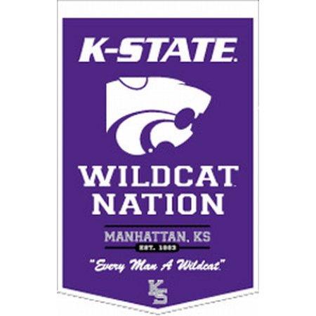 "Kansas State Wildcats 18""x27"" PowerHouse Wool Banner - image 1 de 1"