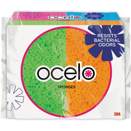 (2 Pack) Ocelo StayFresh Handy Size Sponges, 6 Sponges Per Pack