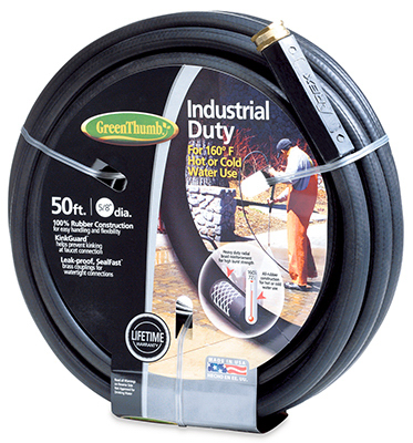 "Green Thumb 136911 5 8"" x 50' Black Rubber Garden Hose by TEKNOR-APEX COMPANY"