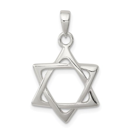 925 Sterling Silver Jewish Jewelry Star Of David Pendant Charm Necklace Religious - Jewish Halloween