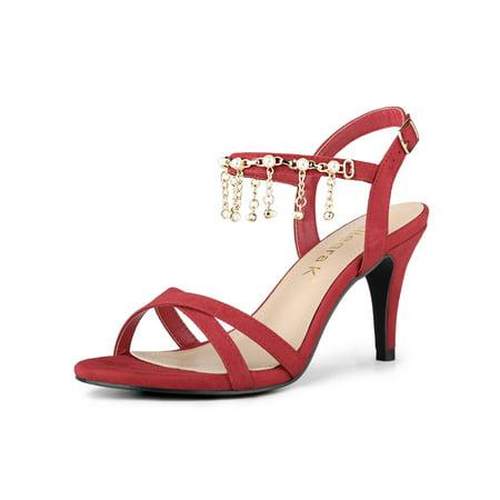 Women's Pearls Slingback Stiletto Heels (Pearl Stiletto)