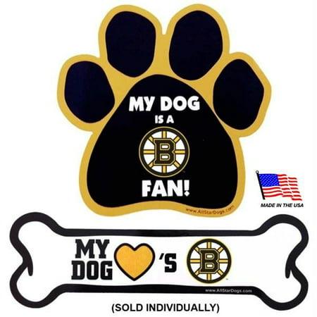 Boston Bruins Car Magnets - Paw