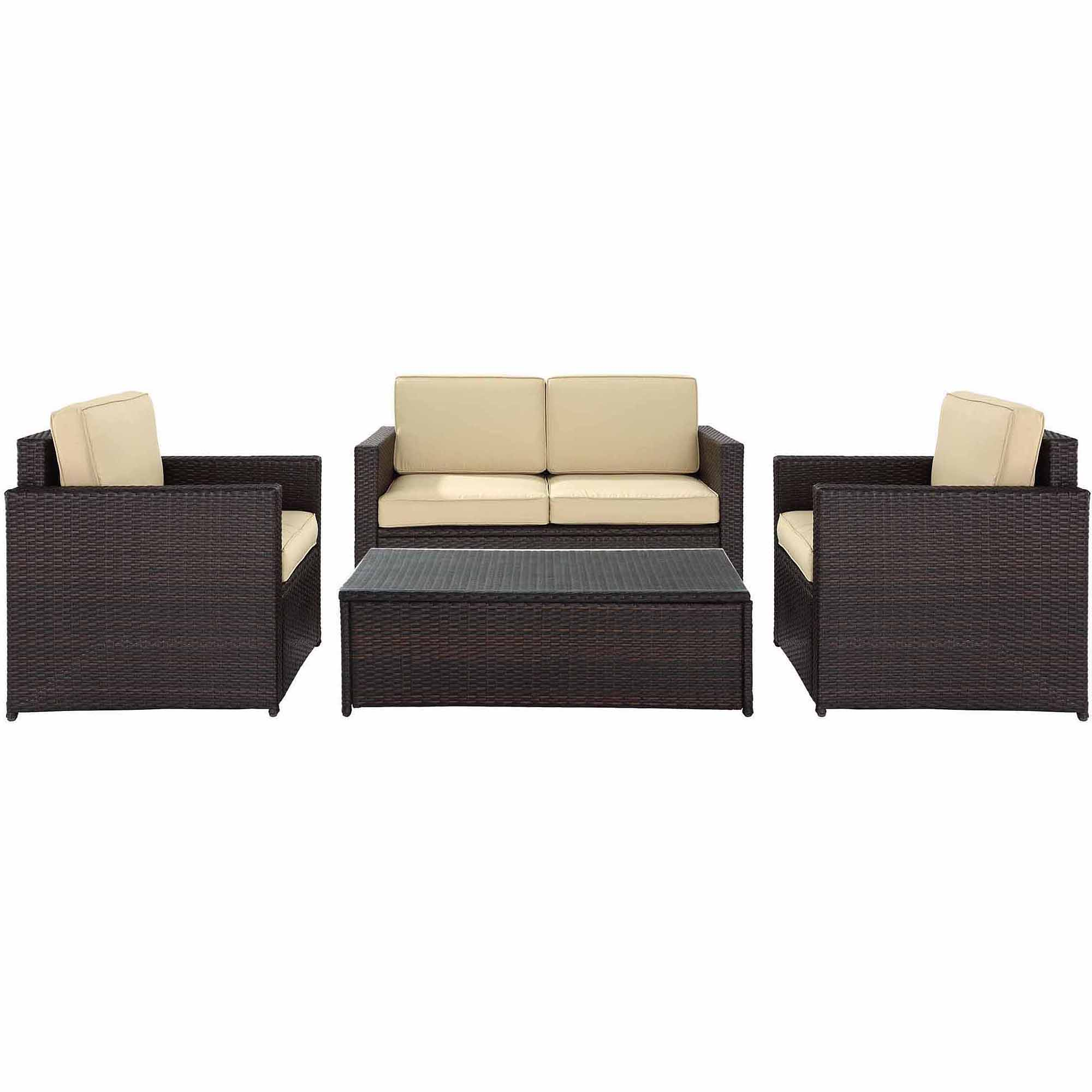 Stupendous Crosley Furniture Palm Harbor 4 Piece Outdoor Wicker Seating Set Alphanode Cool Chair Designs And Ideas Alphanodeonline