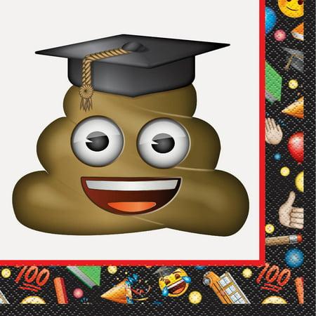 Emoji Graduation Paper Luncheon Napkins, 6.5 in, 16ct - Graduation Napkins