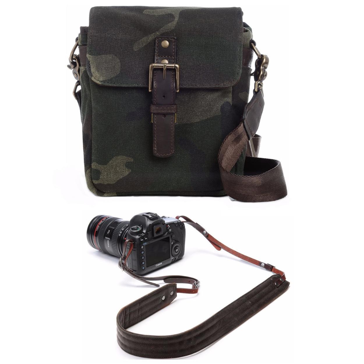 Camouflage Green ONA Bond Street Camera Messenger Bag and Insert