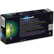 Uni-ball Jetstream Gel Rollerball Pens - Fine Pen Point Type - 0.7 Mm Pen Point Size - Black Ink - Stainless Steel Barrel - 1 Dozen (40173dz)