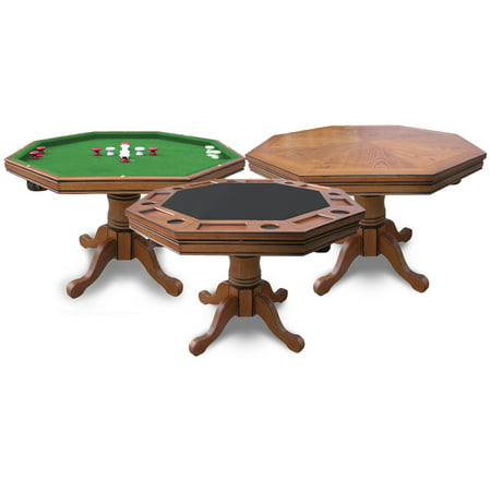 Hathaway Kingston Oak 3-in-1 Poker Table (3 In 1 Poker Table With Chairs)