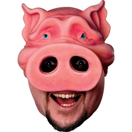 Pig Boy Chinless Adult Mask (Pig Face Mask Emoji)