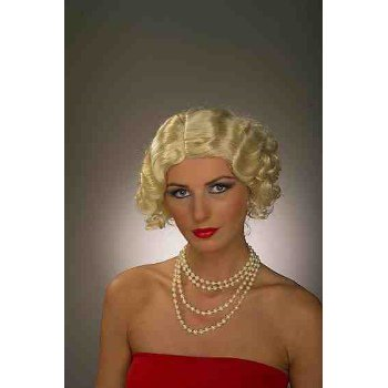 Blonde Flapper Halloween Costume Accessory Wig - Flapper Wig