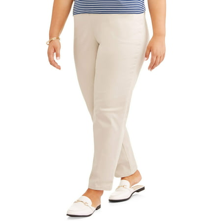 Just My Size Women's Plus Size 2 Pocket Stretch Pants, Also in Petite
