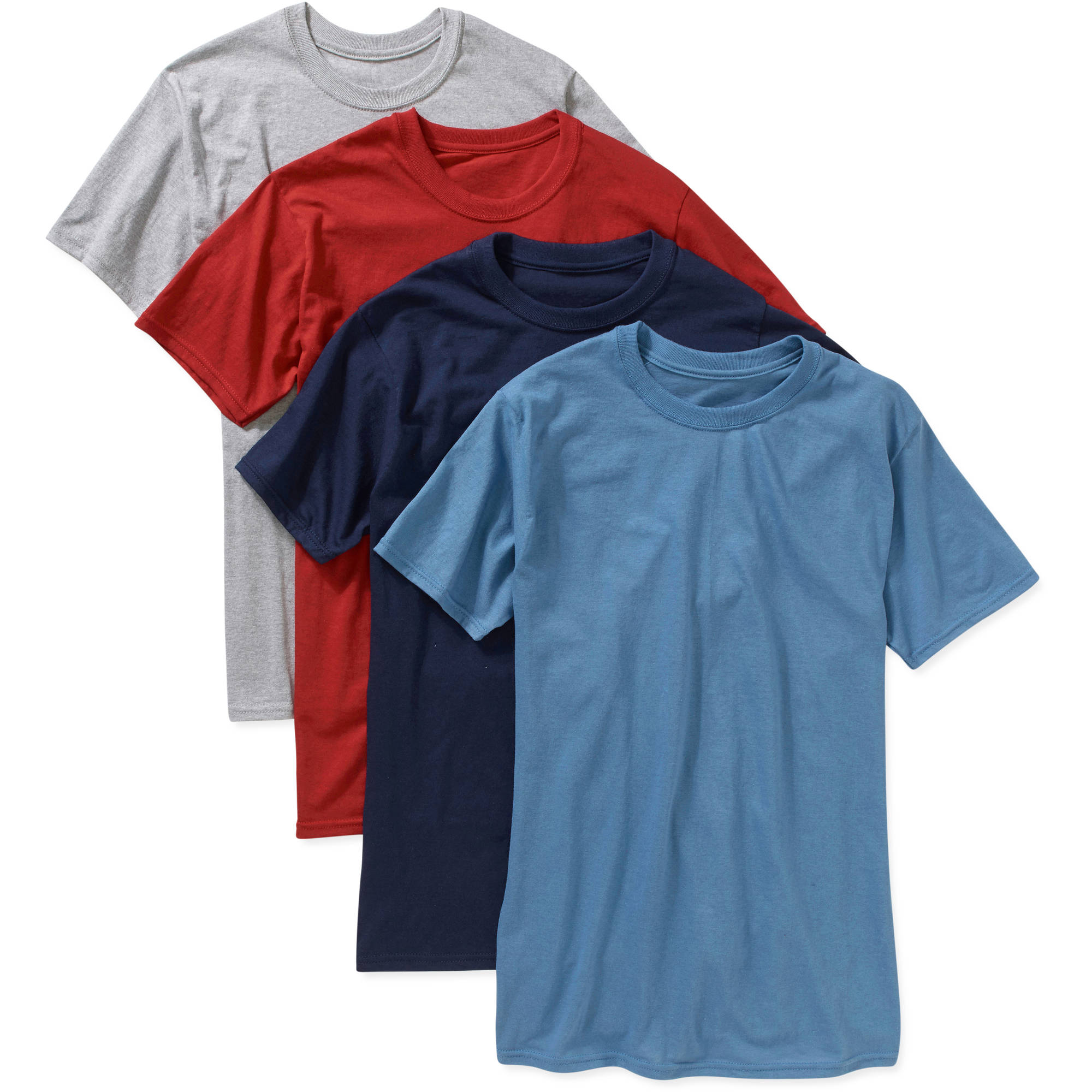 Hanes Big Men's FreshIQ ComfortSoft Dyed Crew Neck T-Shirt 4-Pack