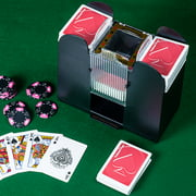 6 Deck Automatic Card Shuffler, Great for Poker, Card Games by Hey! Play! by Trademark Global LLC
