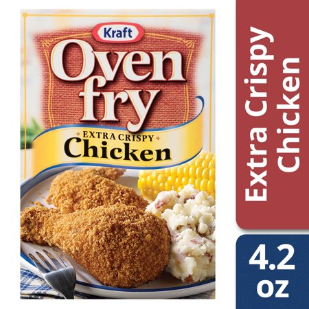 (2 Pack) Oven Fry Extra Crispy Seasoned Coating for Chicken, 4.2 oz Box