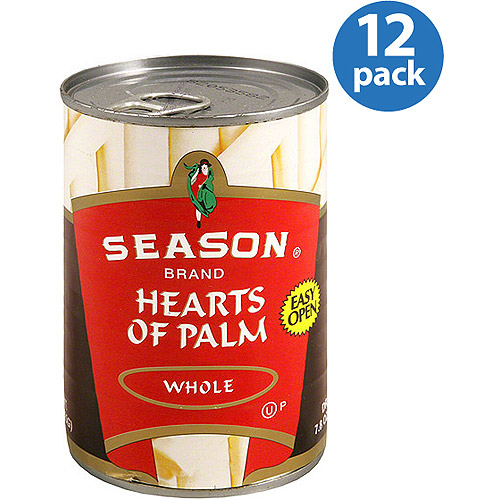 Season Brand Whole Hearts of Palm, 14.1 oz, (Pack of 12)