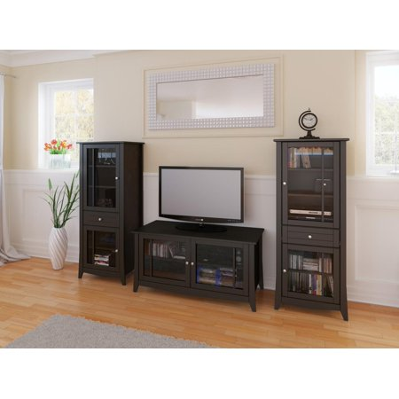 Elegance 49-inch TV Stand with Two Curio Cabinets